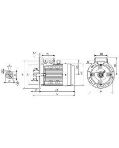 IE4 Elmotor 1,5 kW 230VD/400VY 50 Hz 1000 RPM 6061000200