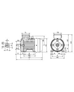 IE4 Elmotor 0,75 kW 230VD/400VY 50 Hz 1000 RPM 6060900100