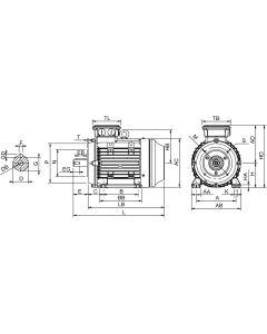 IE4 Elmotor 0,75 kW 230VD/400VY 50 Hz 1500 RPM 6040800500