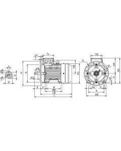 IE4 Elmotor 0,75 kW 230VD/400VY 50 Hz 1500 RPM 6040800400