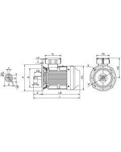 IE4 Elmotor 18,5 kW 400VD/690VY 50 Hz 1000 RPM 6062000200