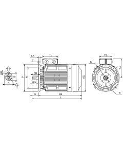 IE4 Elmotor 45 kW 400VD/690VY 50 Hz 1500 RPM 6042251200