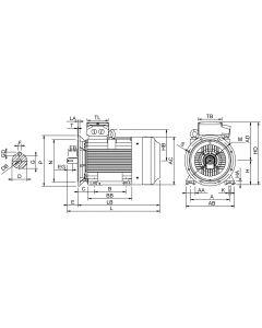 IE4 Elmotor 90 kW 400VD/690VY 50 Hz 1000 RPM 6063151400