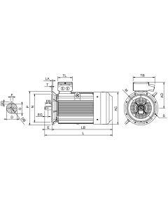 IE4 Elmotor 200 kW 400VD/690VY 50 Hz 1500 RPM 6043153200