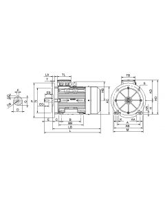 IE3 Elmotor 1,50 kW 230VD/400VY 50 Hz 1500 RPM 5540901409