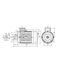IE3 Elmotor 0,75 kW 230VD/400VY 50 Hz 1000 RPM 5560900300
