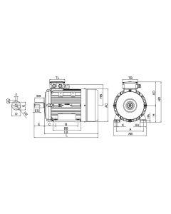 IE3 Elmotor 0,75 kW 230VD/400VY 50 Hz 1500 RPM 5540801109
