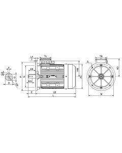 IE3 Elmotor 0,75 kW 230VD/400VY 50 Hz 1500 RPM 5540801209